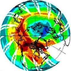 北極圏のオゾン層